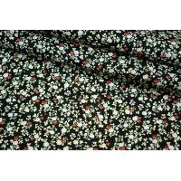 Хлопок поплин мелкие цветы на черном BLP1-B3 19041719