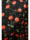 Хлопок поплин вишни на черном BLP 19041720