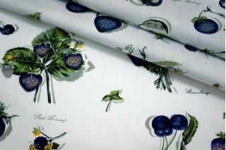 Хлопок поплин синие ягоды BLP 19041722