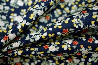 Хлопок поплин мелкие цветы на синем BLP-B3 19041727