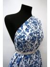 Хлопок поплин голубые цветы на белом BLP 19041728