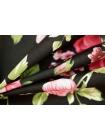 Хлопок поплин цветы на черном BLP 19041729