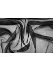 Шелковая органза черная PRT-С2 18071703