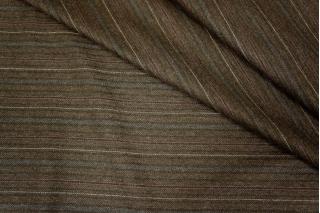 Костюмная шерсть коричневая в полоску PRT-L3 19101704