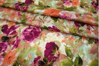 Сатин-стрейч плательный цветы UAE-E6 18121713