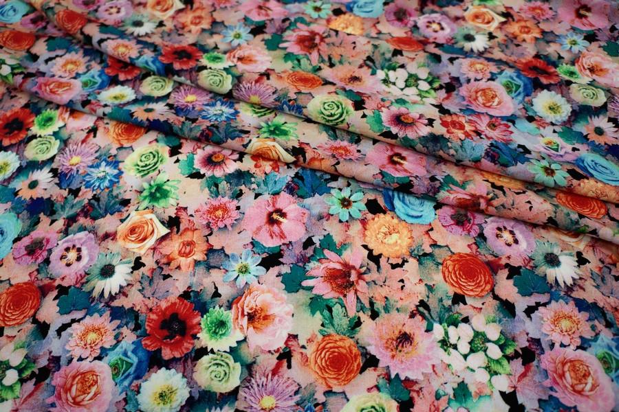Штапель цветы UAE-B2  18121722