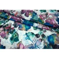 Плательно-блузочный сатин-стрейч акварель UAE-E6 18121725