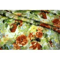 Сатин-стрейч плательный цветы UAE-E6 18121730