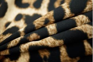 Креп-шифон стрейч леопард UAE2-E2 18121731