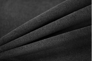 Велюр-стрейч хлопковый черный PRT1-D3 03041803