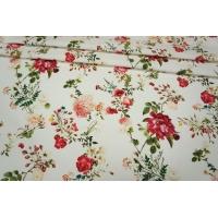 Хлопок-стрейч цветы PRT2- B4 27021805