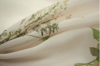 Крепдешин шелковый цветочки PRT1-O2 08021807