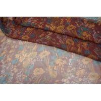 Шифон шелковый цветы PRT1-J2 08021809