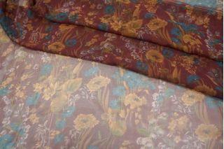 Шифон шелковый цветы PRT1-O2 08021809
