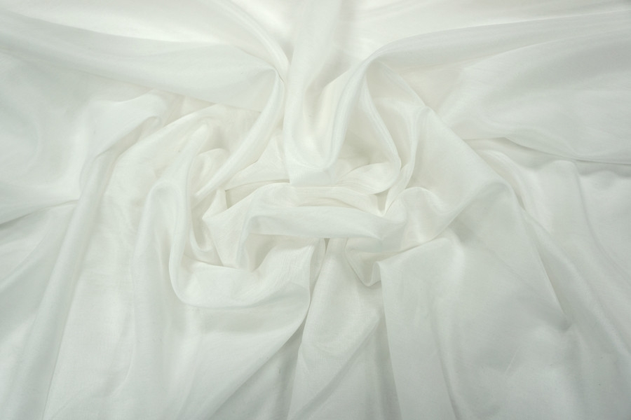 Батист шелк с вискозой белый PRT2-B3 08031803