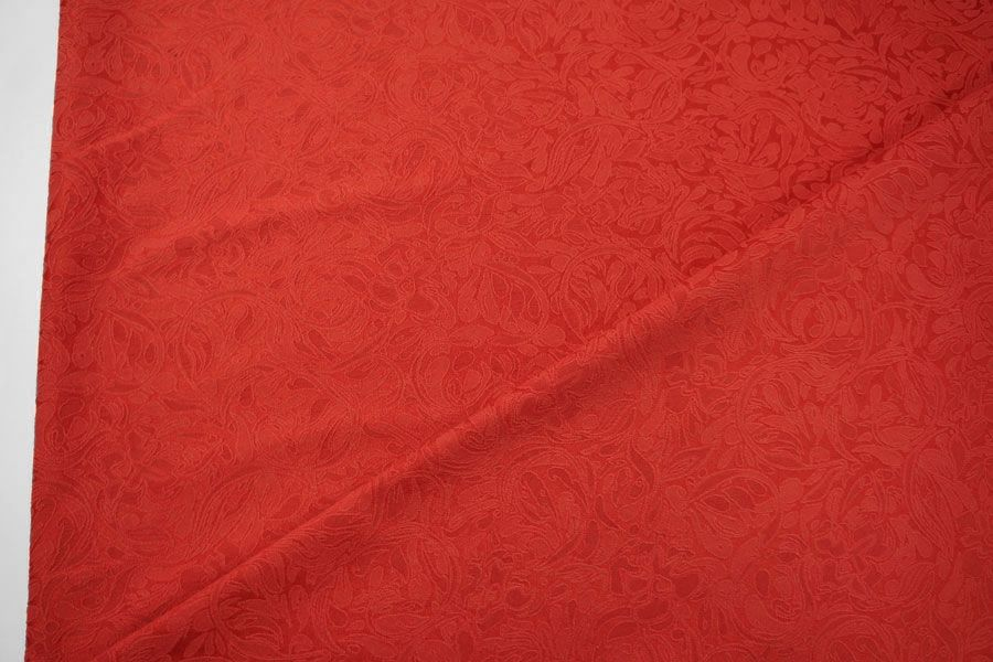 Жаккард хлопковый красный LT1-J4 1121506