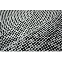 Жаккард-стрейч двусторонний черный-белый LT1-J4 10041802