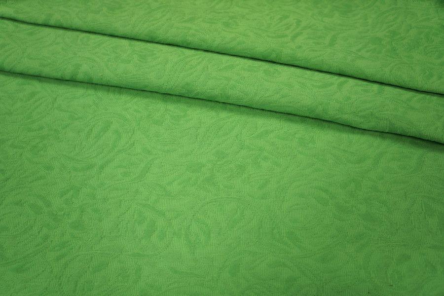 Жаккард-стрейч хлопковый зеленое яблоко LT 046-J4 10041804