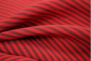 Вискоза плательная в полоску красная PRT-C4 11041819