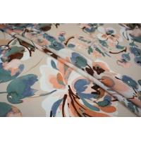 Плательно-блузочный иск.шелк цветы LEO-E4 11071801
