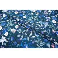 Штапель креповый цветы на клетке LEO-B2 11071804