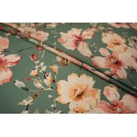 Плательно-блузочный иск.шелк цветы LEO-E4 11071806