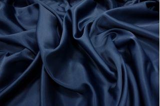 Вискозный атлас темно-синий PRT-N3 18061821