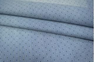 Хлопок-стрейч рубашечный полоска сине-белая UAE-B6 19011810