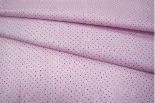 Хлопок-стрейч рубашечный полоска лилово-белая UAE-I5 19011811