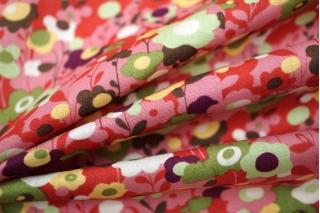 Хлопок цветы розовые UAE-B6 19011813