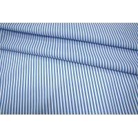 Хлопок полоска бело-голубая UAE-B6 19011802