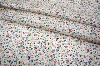 Хлопок цветы мелкие на белом UAE-B6 19011821