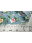 Хлопок цветы мелкие на голубом UAE-B6 19011822