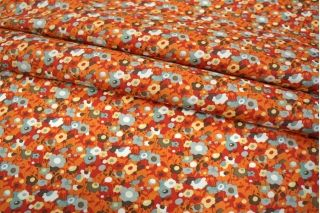 Хлопок цветы оранжевые UAE-B6 19011823