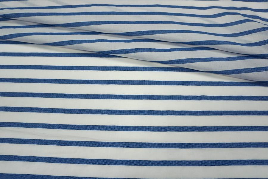 Батист в синюю полоску PRT-B3 18041802