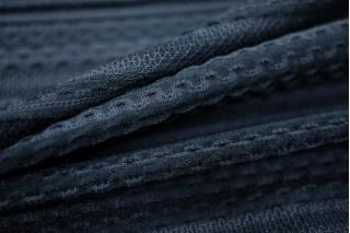 Трикотаж фактурный темно-синий PRT-D5 18041817