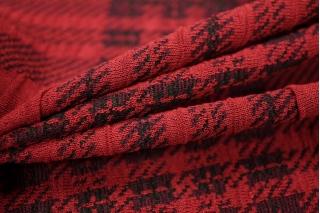 Трикотаж вискозный клетка красная PRT-R5 19031819