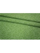 Трикотаж хлопковый зеленый PRT 19031820