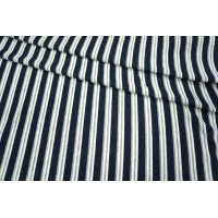 Трикотаж хлопковый в полоску сине-серую PRT1-R3 21031821