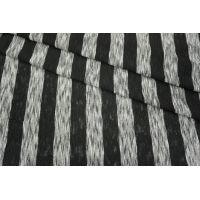Трикотаж в полоску черный-серый PRT 21031823