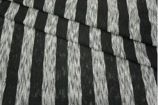 Трикотаж в полоску черный-серый PRT-K3 21031823