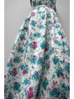 Джинс-стрейч цветы UAE-B4 23011811