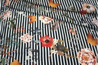 Штапель цветы на полоске LEO1 23041808