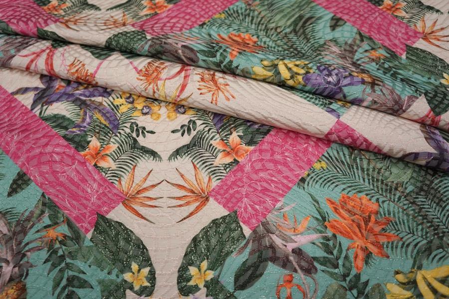 ОТРЕЗ 2,1 М Жаккард с люрексом цветы LEO -F3 23041822-1