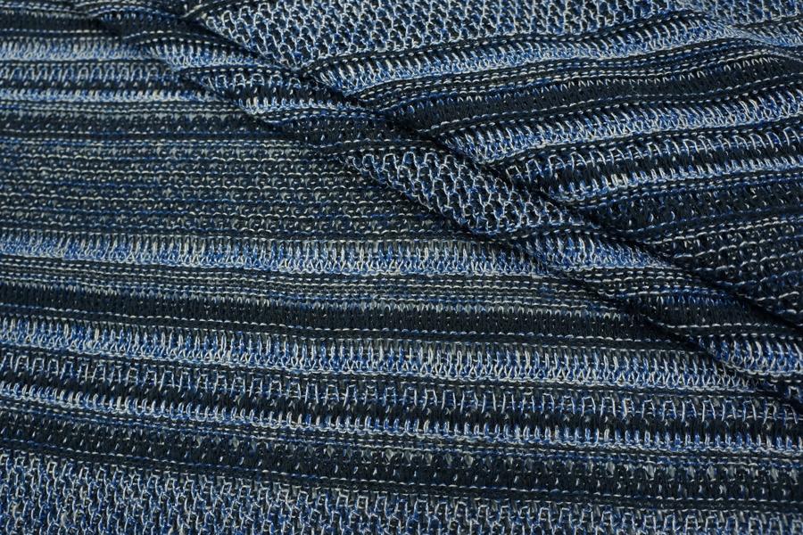 Трикотаж вязаный черно-синий PRT-K3 23071804