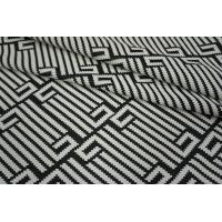 Трикотаж геометрия черно-белый PRT1-Q4 23031802