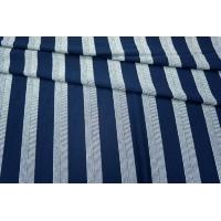 Трикотаж вискозный синий в полоску PRT-Q3 23031803