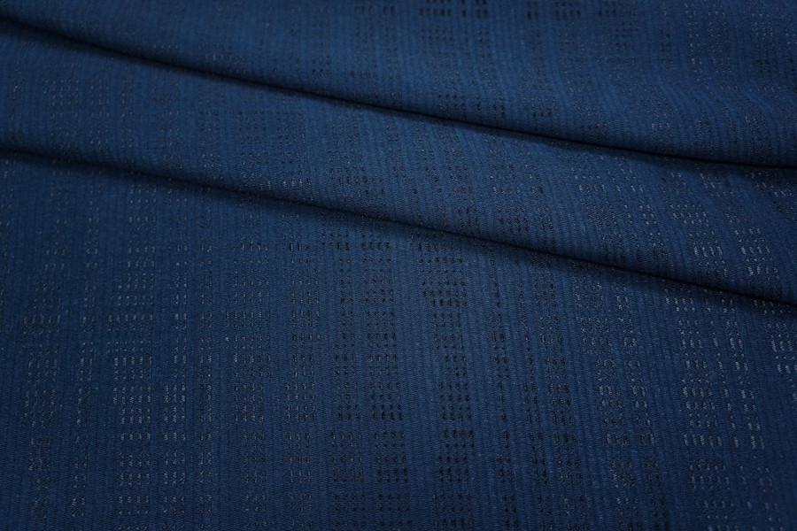 Трикотаж вискозный темно-синий PRT-Q3 23031806