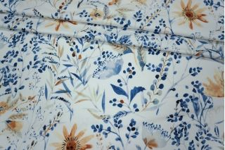 Сатин плательный цветы MX1 B-4 27061802