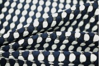 ОТРЕЗ 2,6 М Трикотаж белый в полоску синюю PRT-Q3 26031818-1